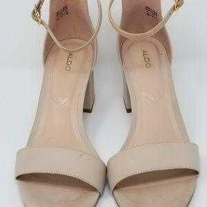 ALDO | Leather Villarosa Block Heel Sandal